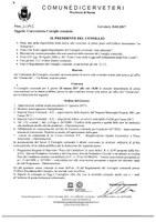 Convocazione Consiglio Comunale 20/03/2017