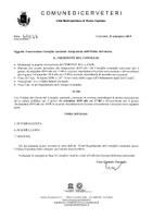 Convocazione Consiglio Comunale del 16/09/2019 - Integrazione Ordine del Giorno