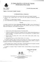 Convocazione Consiglio Comunale del 18/11/2019