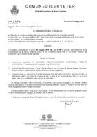 Convocazione Consiglio Comunale del 20/05/2019