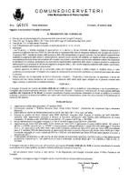 Convocazione Consiglio Comunale del  22/10/2020