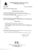 Convocazione Consiglio Comunale del 23/10/2019