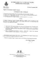 Convocazione Consiglio Comunale del 27/01/2020