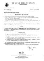 Convocazione Consiglio Comunale del 29/03/2018