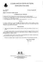Convocazione Consiglio Comunale del 29/05/2019