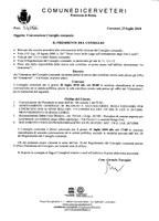 Convocazione Consiglio Comunale del 30/07/2018