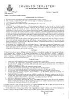 Convocazione Consiglio Comunale del 30 giugno 2021