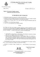 Convocazione Consiglio Comunale del 31/05/2018 - Integrazione Ordine del giorno