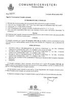 Convocazione del Consiglio Comunale del 15/11/2018