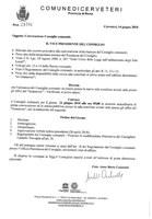 Convocazione del Consiglio Comunale del 21/06/2018
