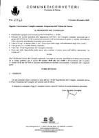 Integrazione ODG Consiglio Comunale seduta del 09/10/2018