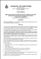 Servizio Urbanistica - AVVISO aggiornamento elenco professionisti esterni per affidamento incarichi professionali attinenti la pianificazione di importo fino a € 100.000,00