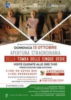 15° Anniversario Unesco - APERTURA STRAORDINARIA TOMBA DELLE CINQUE SEDIE