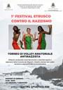 1° Festival Etrusco contro il razzismo: Torneo di volley amatoriale antirazzista