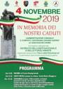 4 Novembre 2019 Commemorazione in Memoria dei Nostri Caduti