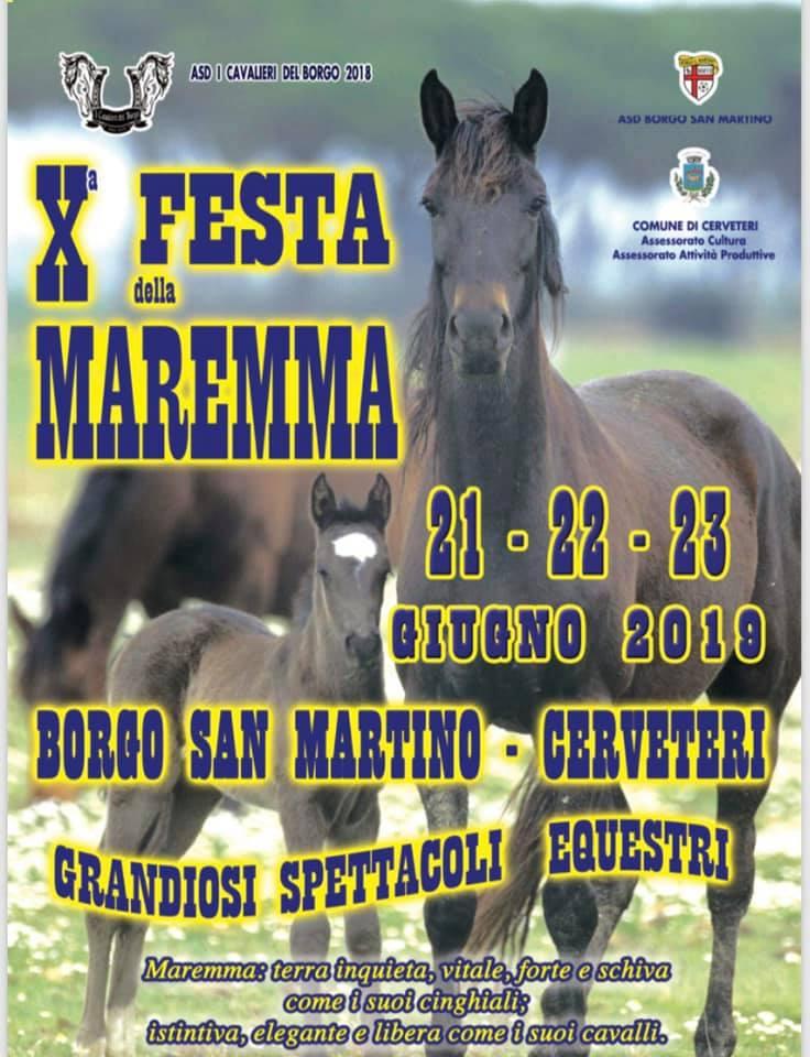 A Borgo San Martino la decima edizione della Festa della Maremma 21-22-23 giugno 2019