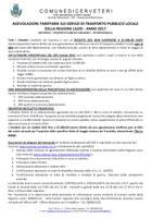 AGEVOLAZIONI TARIFFARIE SUI SERVIZI DI TRASPORTO PUBBLICO LOCALE DELLA REGIONE LAZIO - ANNO 2017