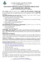 AGEVOLAZIONI TARIFFARIE SUI SERVIZI DI TRASPORTO PUBBLICO LOCALE DELLA REGIONE LAZIO - ANNO 2018