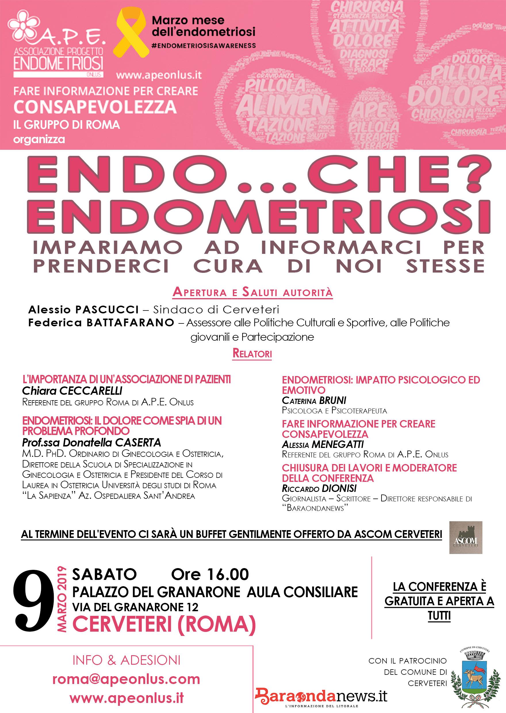 Al Granarone il convegno sull'Endometriosi promosso da A.P.E. Onlus
