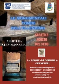 Apertura straordinaria delle Tombe del Comune