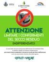ATTENZIONE - LIMITARE I CONFERIMENTI DEL SECCO RESIDUO (INDIFFERENZIATO)