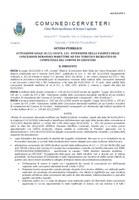 ATTUAZIONE LEGGE 30/12/2018 N. 145 - ESTENSIONE DELLA VALIDITÀ DELLE CONCESSIONI DEMANIALI MARITTIME AD USO TURISTICO RICREATIVO DI COMPETENZA DEL COMUNE DI CERVETERI