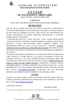 Avviso di esumazioni ordinarie 2019 (artt.82 e 85 D.P.R. n. 285 del 10 settembre 1990)