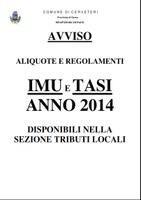 Avviso IMU e TASI  anno 2014