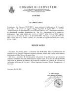 Avviso pubblicazione DCC n.35/2021 in materia di Rigenerazione Urbana L.R. 7/2017