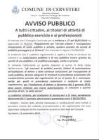 SERVIZIO URBANISTICA Avviso Pubblico nuovo Regolamento per l'arredo urbano e occupazione temporanea di suolo pubblico e privato