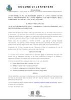 AVVISO PUBBLICO PER LA PROCEDURA APERTA DI CONSULTAZIONE AI FINI DELLA PREDISPOSIZIONE DEL PIANO TRIENNALE DI PREVENZIONE DELLA CORRUZIONE 2014-2016 DEL COMUNE DI CERVETERI