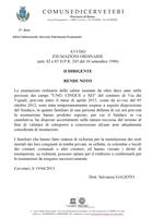 Avviso sospensione esumazioni 2013