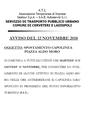 Si avvisano gli utenti che nelle ore antimeridiane del 13 e del 15 novembre, il Capolinea di Piazza Aldo Moro sarà spostato in prossimità del P.I.T.