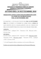 AVVISO TPL - LINEA 23 COLLEGAMENTO CON IL COMUNE DI BRACCIANO
