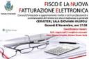 Cerveteri, a Sala Ruspoli 'Fisco e la nuova fatturazione elettronica'