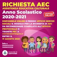 Cerveteri, AEC: disponibile il modulo per l'anno scolastico 2020-2021