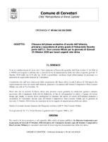 Chiusura del plesso scolastico di scuola dell'infanzia, primaria e secondaria di primo grado di Valcanneto facente parte dell'I.C. Don Lorenzo Milani per la giornata di Giovedì 15 Ottobre 2020 per lavori urgenti rete idrica