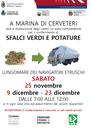 Prosegue fino al 30 dicembre il servizio di auto-compattatori destinati alla raccolta sul territorio degli sfalci verdi e potature a Valcanneto e Marina di Cerveteri