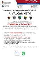 Consegna nuovi contenitori a Valcanneto e NUOVI ORARI del punto di consegna Via Fontanta Morella