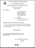 Convocazione Commissione Consiliare Bilancio
