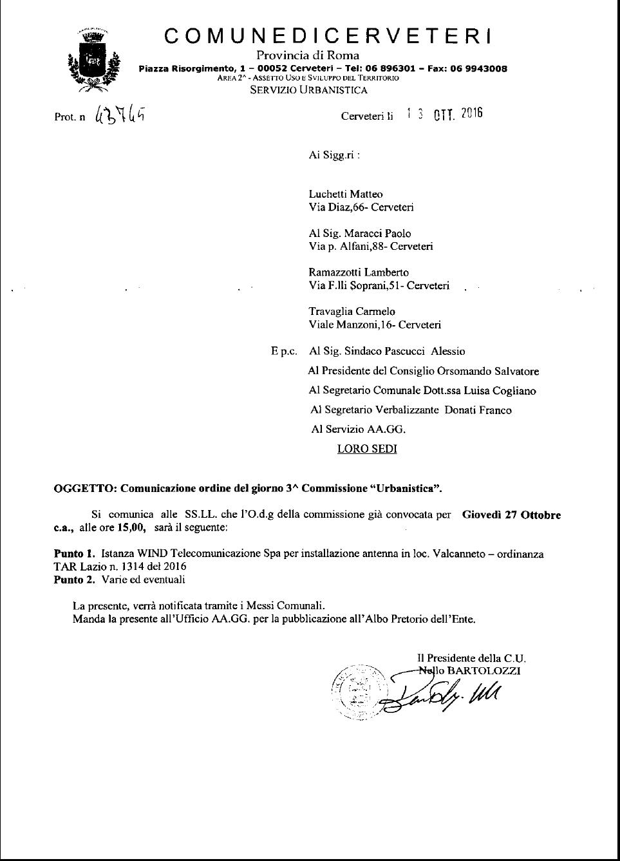 Convocazione Commissione Urbanistica
