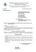 """Convocazione II Commissione Consiliare """"Bilancio, Programmazione Economica, Tributi, Patrimonio""""."""