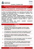 DISPOSIZIONI IN MATERIA DI CONTENIMENTO E GESTIONE DELL'EMERGENZA EPIDEMIOLOGICA DA COVID-19