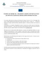 ELEZIONI EUROPEE 2019 - PARTECIPAZIONE AL VOTO DEI CITTADINI COMUNITARI