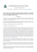 ERRATA CORRIGE - Avviso relativo alla nomina del Collegio Sindacale (Presidente - due Sindaci effettivi e due Sindaci supplenti) della Società totalmente partecipata dal Comune di Cerveteri, Multiservizi Caerite SPA