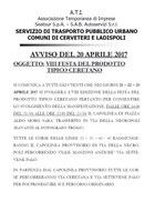 Festa prodotto tipico ceretano  - Avviso Servizio Trasporto Pubblico Urbano Comune di Cerveteri e Ladispoli