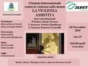 Giornata Internazionale per l'Eliminazione della Violenza sulle Donne: a Sala Ruspoli con l'AUSER si parla di Violenza Assistita