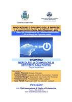 INNOVAZIONE E SVILUPPO DELLE IMPRESE - Le opportunità offerte dalla Regione Lazio
