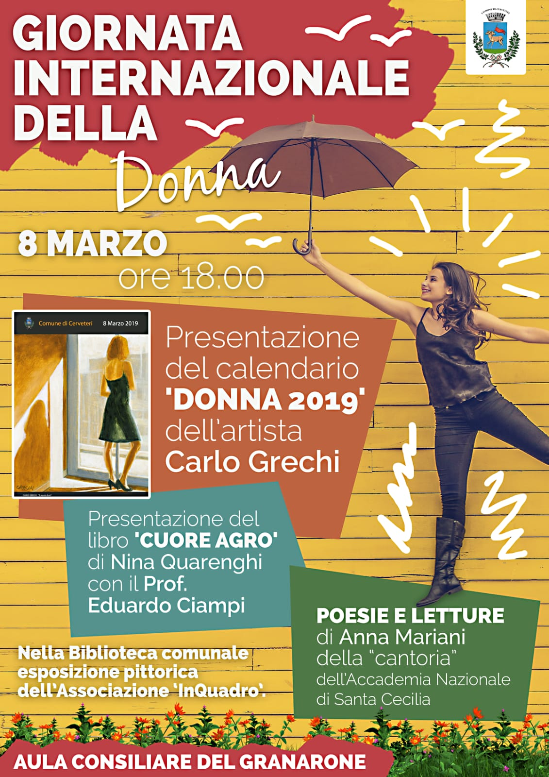 L'artista Carlo Grechi presenta il calendario dedicato alla Donna