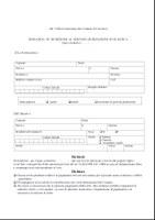MODULO iscrizione Servizio di Refezione Scolastica